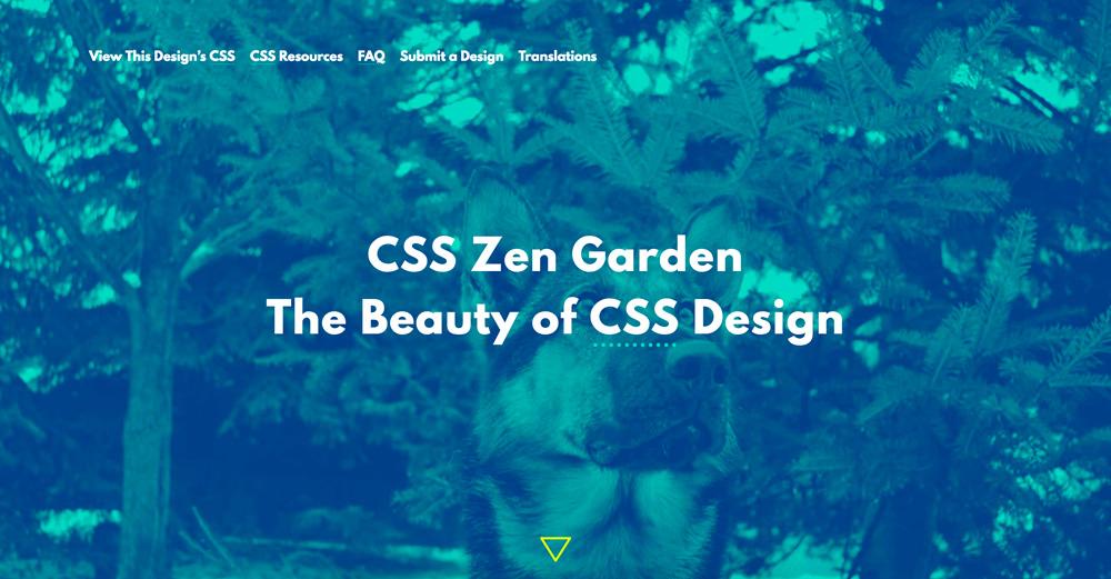 Page d'accueil CSS Zen Garden