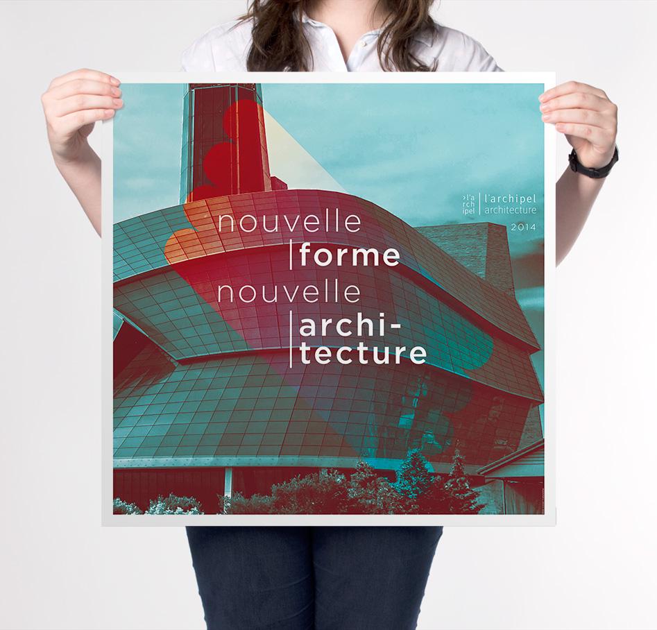 Recto de l'affiche pour l'Archipel architecture