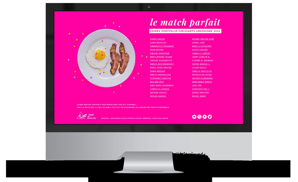 Version oeuf et bacon du site web