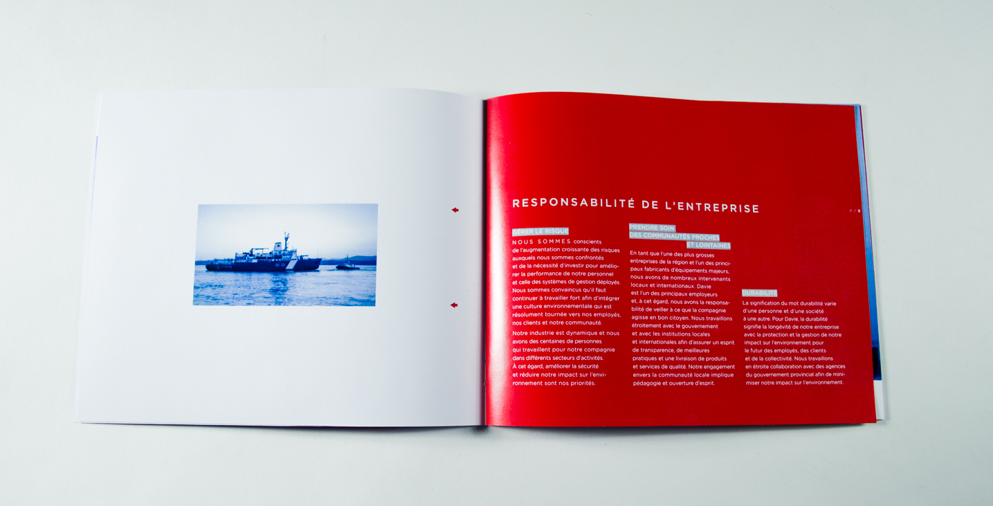 Pages de la brochure
