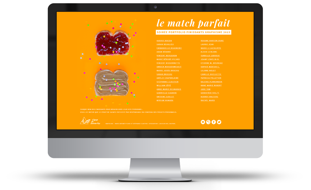 Version tartines du site web
