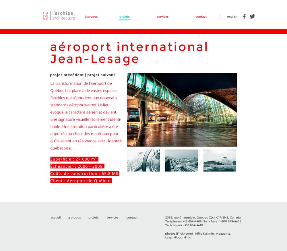 Design web de la page du projet individuel