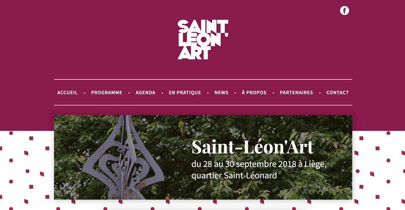 Page d'accueil Saint Léon'Art
